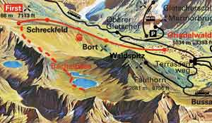 First to Bachalpsee Map