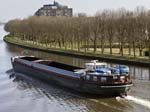A Barge on Amsterdam-Rijnkanaal from the Nesciobrug