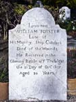 Lieutenant William Forster's Gravestone