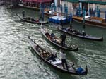 Gondolas near the Rialto Bridge