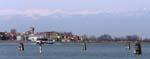 Burano and Alps from Treporti