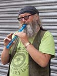 A Busker with a Recorder