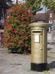 Dani King's Gold Postbox