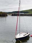 A Sailing Boat Afon Ystwythy Bridge