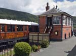 The 'Peter Snow' Coach and the Signal Box, Carrog