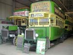 The Bus Garage - Leyland N type No 125 to the fore