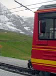 A Beh 4/8 in front of the Jungfraujoch