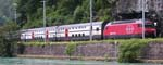 An Re 460 hauling the Thun to Interlaken Ost Interregio