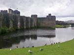 Caerphilly Castle from the town