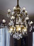 A Chandelier Blue Drawing Room