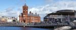 The Pierhead Building and the Senedd,