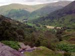 Dovedale from above the waterfall