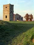 Knowlton Church and the entrance to Church Henge