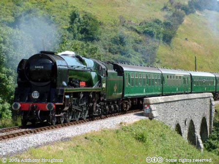 Corfe Castle,34028 Eddystone,Steam Engine,Locomotive,Train,Swanage Railway,Heritage,Railroad