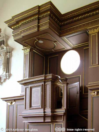 Forde Abbey,Stately Home,Chapel,Pulpit