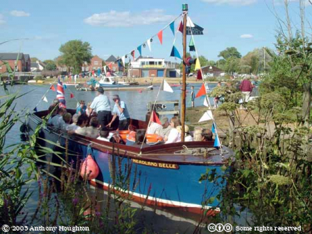 Christchurch,Boats,River Stour,Ferry