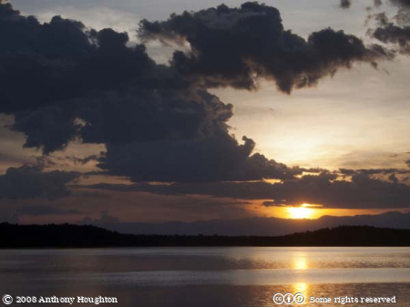 Sunset,Jacana Lodge,Lake Nyamusingire,Crater,QENP,Queen Elizabeth National Park