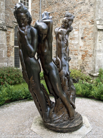 Adam and Eve,E J Clack,Sculpture,Bishops Palace,Bishop's PalaceWells