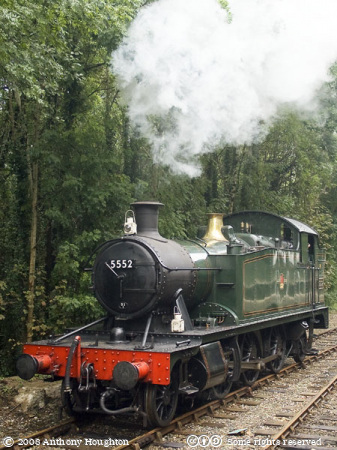 GWR 5552,Bodmin and Wenford Railway,Heritage,Train,Steam Engine,Locomotive