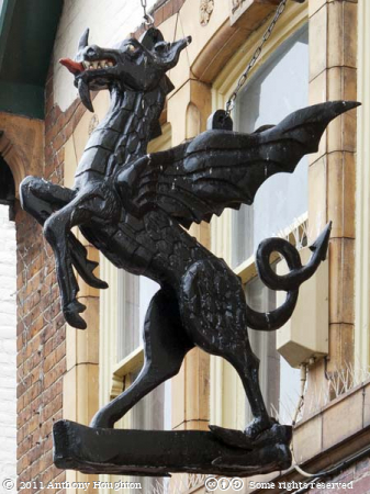 Black Griffin Sign,Canterbury