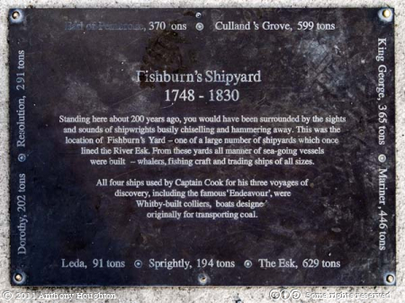Fishburn Shipyard Memorial,Plaque,Whitby