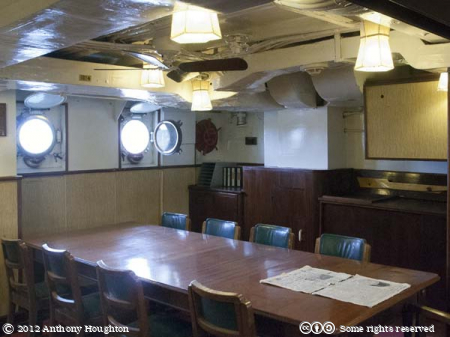Officers' Mess,HMS Cavalier,Historic Dockyard,Chatham,Ship,Royal Navy