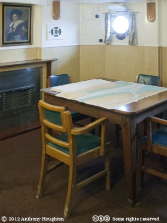 Captain's Day Cabin,HMS Cavalier,Historic Dockyard,Chatham,Ship,Royal Navy