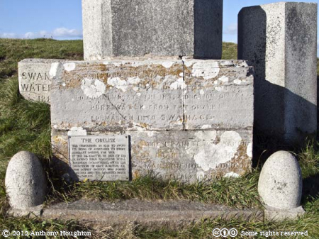 Inscriptions,Swanage,Water Act,Obelisk,Ballard Down,Monument
