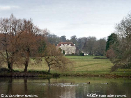 Hyde's House,Dinton Park,Lake,Trees,Statley Home