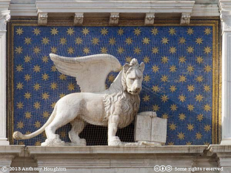 Winged Lion,Torre dell'Orologio,St Mark's Clock,Venice,Venezia