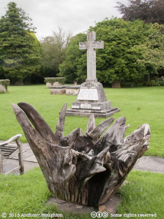 Upturned Stump,St Michael and All Angels,Churchyard,Urchfont