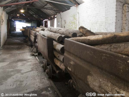 Drams,Trollies,Big Pit,National Coal Museum,Blaenafon,Coal Mine,Railway