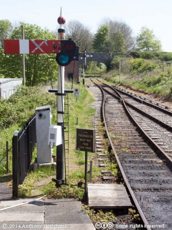 Signal,Cranmore Station,East Somerset Railway,Heritage