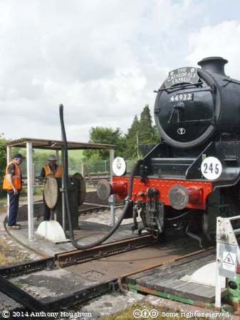 44932,Black Five,Yeovil Railway Centre,Heritage,Steam Engine,Locomotive,Turntable