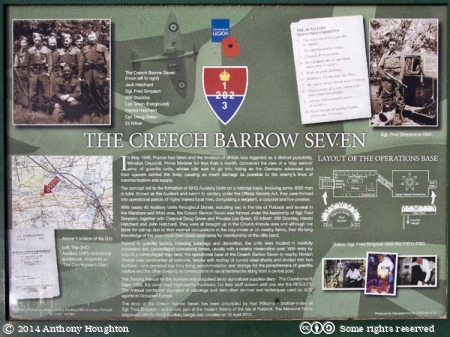 Creech Barrow Seven,Display Board,East Creech