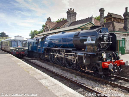 Tornado,60163,Corfe Castle,Swanage Railway,Steam Engine,Heritage,Peppercorn A1