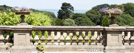 View,Sea,Osborne House,Balustrade,Terrace