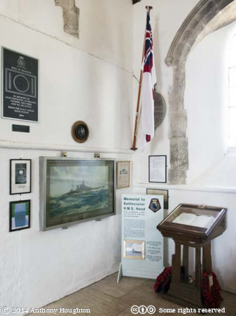H.M.S. Hood,Memorial Chapel,St John the Baptist,Boldre,Church