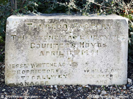 Whitehead Factory,Foundation Stone,Weymouth