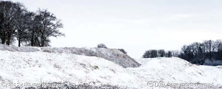 Snow,Walls,Badbury Rings,Iron Age,Hill Fort