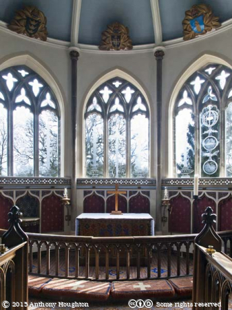 Chancel,St Nicholas Church,Moreton,Laurence Whistler