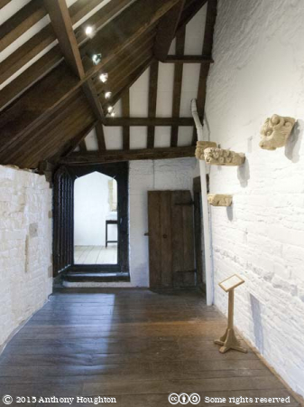 Cheese Room Lobby,Abbot's Lodging,Muchelney Abbey,English Heritage,Langport