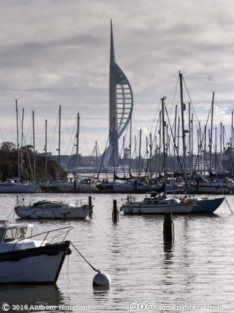 Spinnaker Tower,Forton Lake,Boats