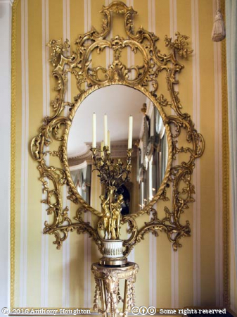 Mirror,Drawing Room,Hinton Ampner,Stately Home,House,National Trust