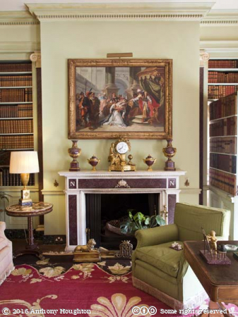 Library,Hinton Ampner,Stately Home,House,National Trust
