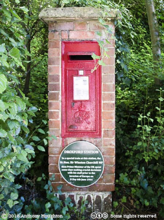 Sir Winston Churchill,D-Day,Postbox,Droxford Station