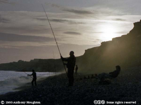 New Milton,Barton,Sky,Sunset,Cliffs,Fishermen