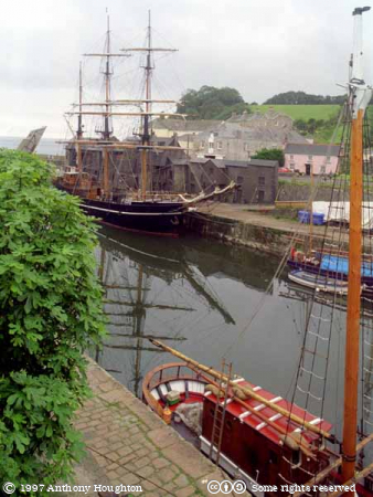 Charlestown Harbour,Sailing Ships,Boats