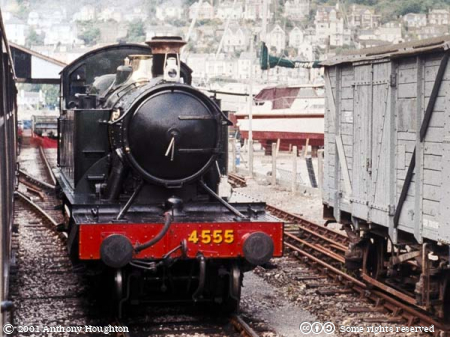 PDR,Paignton and Dartmouth Railway,Heritage,Kingswear Station,Steam Engine,Locomotive,GWR Class 4500,4555 Warrior