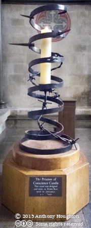 Prisoners of Conscience Candle,Salisbury Cathedral